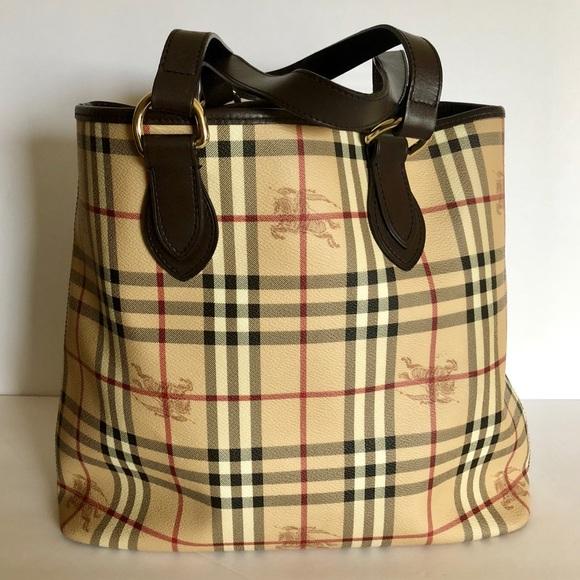Burberry Handbags - BURBERRY Haymarket Check Onslow Medium Canvas Tote 384c4fc48aaff